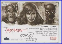 2019 Flair Marvel Sketch Cards Artist Proof 1/1 Ray Racho ob9