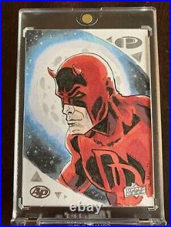 2019 Marvel Premier Artist Proof Daredevil Sketch Card Ben AbuSaada
