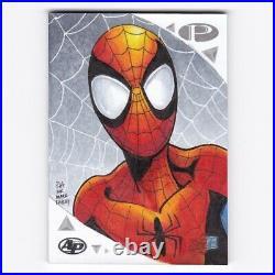 2019 Marvel Premier Sketch Card Spider-Man Artist Paul Andrews Mark Bagley 1/1