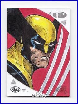 2019 Marvel Premier Sketch Card Wolverine Logan X-Men by Artist Paul Andrews