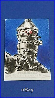 2019 Star Wars Masterwork Sketch Card by Artist Richard Serrao