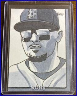 2019 Topps Series 2 Mookie Betts 1/1 Sketch Card R. Molinelli Artist Red Soxs