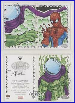 2019 Upper Deck Marvel Premier Sketch Cards Dual Panel Unknown Artist l6f
