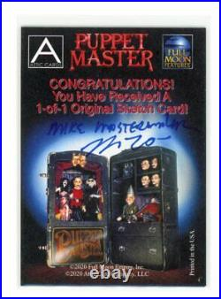 2020 Attic Cards Puppet Master Artist Sketch Card by Mike Mastermaker