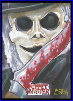 2020 Attic Cards Puppet Master Blade Artist Sketch Card by Steven Burch