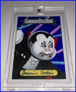 2020 GARBAGE PAIL KIDS LATE TO SCHOOL GPK ARTIST SKETCH CARD Jasmine Contois 1/1