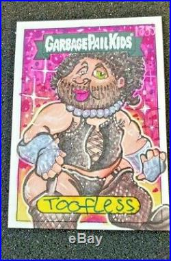 2020 Garbage Pail Kids Late For School Sketch Card By Artist Toffless AMAZING