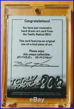 2020 Macho Man Randy Savage Sketch Card (SIGNED) Michael Munshaw Artists Unite