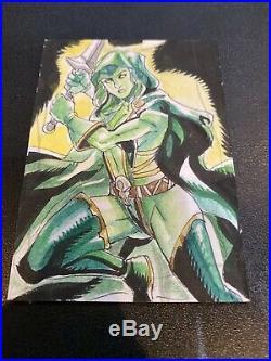 2020 Marvel Masterpiece Sketch Card 1/1 Gamora Artist Mel Joy San Juan