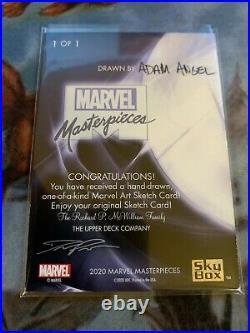 2020 Marvel Masterpieces 1/1 Artist Sketch Card Iceman Adam Angel Signed