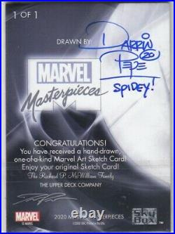 2020 Marvel Masterpieces Artist Sketch Card 1/1 By Darrin Pepe