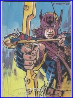 2020 Marvel Masterpieces Artist Sketch Card 1/1 By Dominic Racho