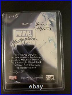 2020 Marvel Masterpieces Black Cat 1/1 Marvel Art Sketch Card Artist Signed