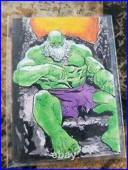 2020 Marvel Masterpieces Old Man Hulk Sketch Card Artist Jomar Bulda 1/1