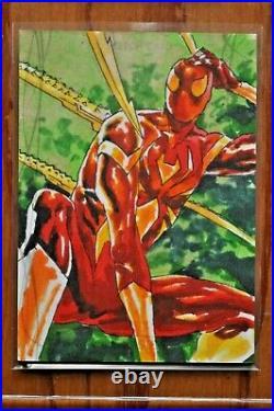 2020 Marvel Masterpieces, Sketch Card, Spider-Man, Artist Jomar Bulda