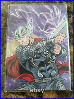 2020 Marvel Masterpieces Thor Sketch Card Artist Idan Knafo 1/1