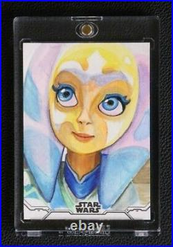 2020 Star Wars Holocron Authentic Artist Auto Sketch Card Ahsoka Tano 1/1