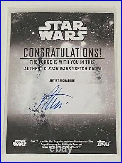 2020 Star Wars Holocron Obi-Wan Kenobi Artist Sketch Card 1/1