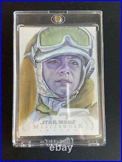 2020 Star Wars Masterwork Artist Sign Sketch Card Sammy Gomez Auto Luke ESB 1/1