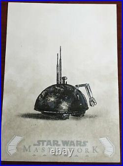 2020 Star Wars Masterworks 1/1 Sketch Card LIN Droid Artist Angel Aviles