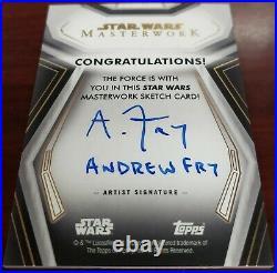 2020 Star Wars Masterworks 1/1 Sketch Card REY Artist Andrew Fry