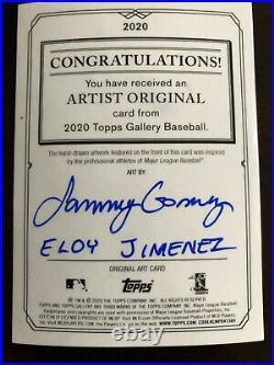 2020 Topps Gallery ELOY JIMENEZ Artist Original Sketch Card 1/1