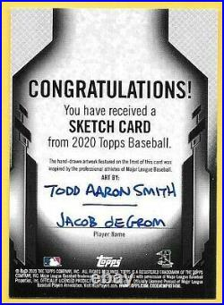 2020 Topps Jacob deGrom Sketch Card By Artist Todd Aaron Smith #1/1