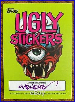 2020 Topps On-Demand #12 Ugly Stickers Artist Sketch Card 1/1 by Chenduz