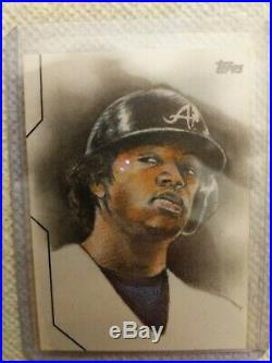 2020 Topps Series 1 Ronald Acuna Jr. Sketch Card /1 Artist Todd Aaron Smith 1 of