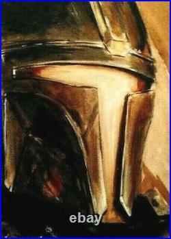 2020 Topps Star Wars Mandalorian Artist Sketch Card Kursat Cetiner! Wow