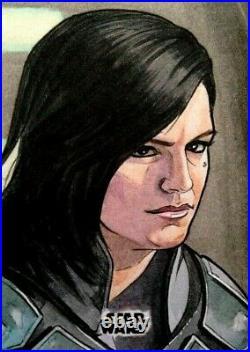 2020 Topps Star Wars Mandalorian Sketch Card Eric Lehtonen Cara Dune Gina Carano