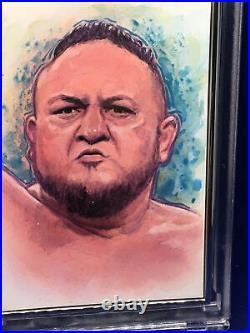 2020 Topps Transcendent Wwe Samoa Joe Sketch Sp# 1/1 Artist Dan Bergren
