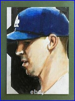 2020 Topps Update Walker Buehler 1/1 Sketch Card Phil Hassewer (Artist) Dodgers
