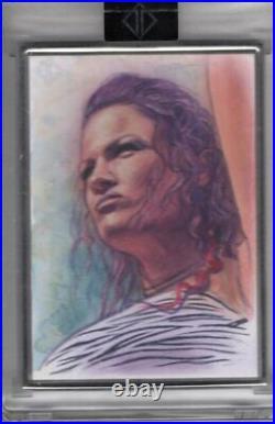 2020 Topps WWE Transcendent LITA 1/1 Dan Bergren ARTIST SKETCH CARD Original Art