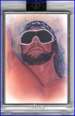2020 Topps WWE Transcendent MACHO MAN RANDY SAVAGE 1/1 Dan Bergren ARTIST SKETCH