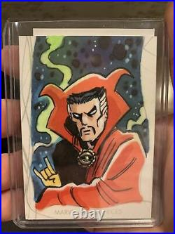 2020 Upper Deck Marvel Masterpieces Artist Proof Elektra Sketch Card Tim Shinn