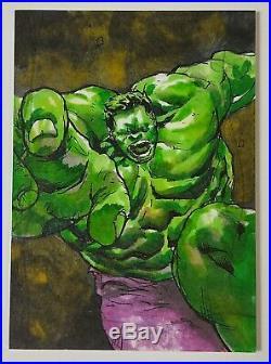 2020 Upper Deck Marvel Masterpieces Artist Sketch Card HULK by JOMAR BULDA 1/1