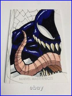 2020 marvel masterpieces Artist Sketch Card Venom