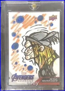 2020 upper deck marvel avengers endgame Artist sketch card