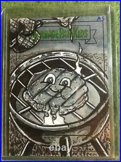 2021 Garbage Pail Kids Food Fight Sketch Card Auto Artist Matt Steffens Grill