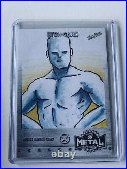 2021 Marvel Metal X-Men Jamie Snell Artist Sketch Card Iceman