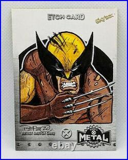 2021 Marvel X-Men Metal Universe Sketch Card Wolverine Artist Darrin Pepe 1/1