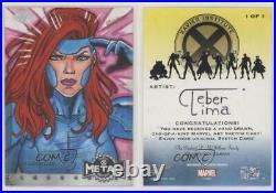 2021 Marvel X-Men Metal Universe Sketch Cards Artist Proof 1/1 Cleber Lima ob9