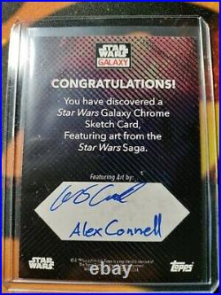 2021 Star Wars Topps Chrome Star Wars Saga Sketch Card Artist Auto 1/1