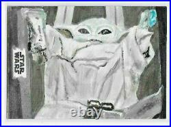 2021 Topps Mandalorian ARTIST SKETCH CARD The Child by S. Mohamed