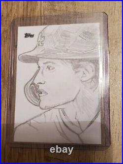 2021 Topps Series 1 Corey Seager 1/1 Artist Sketch Card Dean Drummond Dodgers