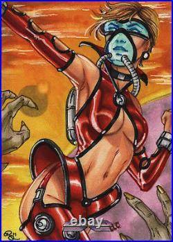 5finity Galaxgals Eradication Rhiannon Owens Rare Artist Sketch Card Ver 3