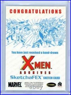 ANGEL 2009 X-MEN ARCHIVES ARTIST FULL COLOR SKETCH CARD by RHIANNON OWENS 1/1