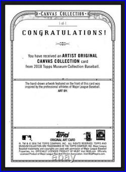 Aaron Judge-topps 2018 Museum Canvas Collection Original 1/1 Artist Proof-cover