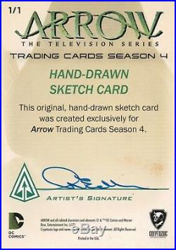 Arrow Season 4, Artist Sketch Card Nina Edlund 1/1